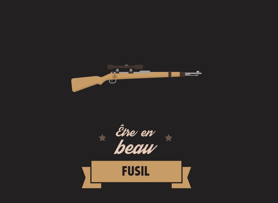 Être en beau fusil